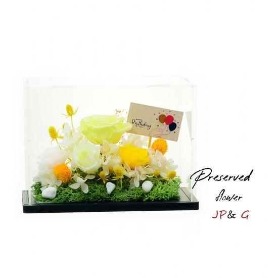 保鮮花連自定小木牌
