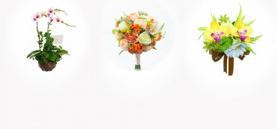 蘭花,絲花球,襟花